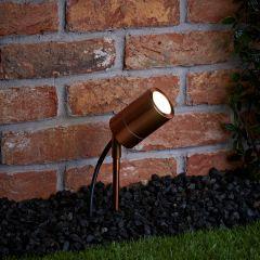 Biard Éclairage Jardin Spot Extérieur à Piquer Cuivré IP44 Le Mans