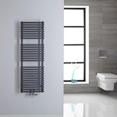 Sèche-serviettes eau chaude 120x40cm 362 watts Magera Anthracite