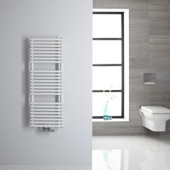 Sèche-serviettes eau chaude blanc 106.5x40cm 333 watts Magera