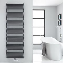 Sèche-serviettes eau chaude Arch anthracite 180x60cm 2083 watts