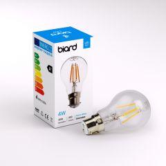 Ampoule LED Filament B22 4W Dimmable - Lot de 6