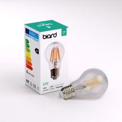Ampoule LED Filament E27 6W Dimmable - Lot de 6