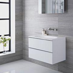 Meuble-lavabo 75x48x70cm Blanc laqué Randwick