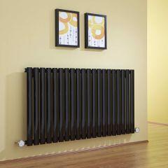 Radiateur Design Électrique Horizontal Noir Vitality 63,5cm x 118cm x 5,6cm