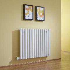 Radiateur Design Électrique Horizontal Blanc Vitality 63,5cm x 83,4cm x 5,6cm