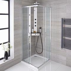 cabines de douche acc s d 39 angle verre et profil s de qualit. Black Bedroom Furniture Sets. Home Design Ideas