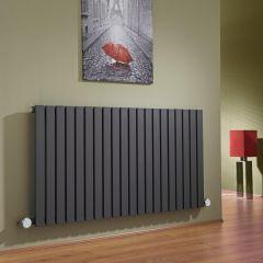 Radiateur Design Électrique Horizontal Anthracite Sloane 63,5cm x 118cm x 5,3cm