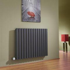 Radiateur Design Électrique Horizontal Anthracite Sloane 63,5cm x 83,4cm x 5,4cm