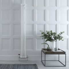 Radiateur Vertical Style Fonte Blanc Windsor 180cm x 20,3cm x 6,8cm 622 Watts