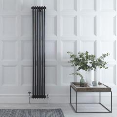 Radiateur Vertical Style Fonte Noir Windsor 180cm x 29,3cm x 6,8cm 934 Watts