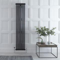 Radiateur Vertical Style Fonte Noir Windsor 180cm x 38,3cm x 6,8cm 1245 Watts