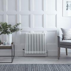 Radiateur Horizontal Style Fonte Blanc Windsor 60cm x 58,5cm x 13,3cm 1234 Watts