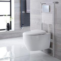 Pack WC Suspendu Kenton - Bâti-support 115x50x18cm & Plaque de Déclenchement au Choix