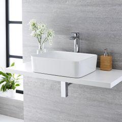 Vasque à poser rectangulaire Alswear 48 x 37cm & Mitigeur Haut Razor