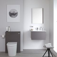 WC Moderne avec meuble Newington - 60cm - Gris Mat
