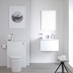 WC Moderne avec meuble Newington - 60cm - Blanc Mat