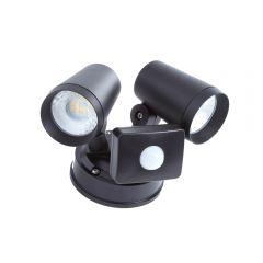 Applique murale LED 16W IP65 2 Spots - Noir - Wels