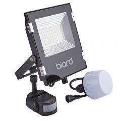 Biard Projecteur LED Noir 30 Watts avec détecteur IP65