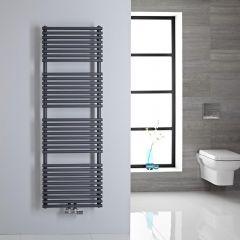 Sèche-serviettes eau chaude 150x50cm 407 watts Magera Anthracite