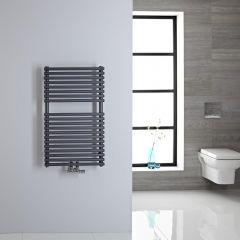 Sèche-serviettes eau chaude 83.5x50cm 304 watts Magera Anthracite