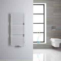 Sèche-serviettes eau chaude blanc 106.5x50cm 334 watts Magera