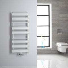 Sèche-serviettes eau chaude blanc 120x50cm 362 watts Magera