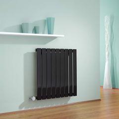 Radiateur Design Électrique Horizontal Noir Delta 63,5cm x 63cm x 4,6cm