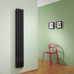 Radiateur Design Électrique Vertical Noir Vitality 160cm x 23,6cm x 7,8cm