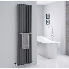 Barre porte-serviettes chromée 47cm pour Radiateur Vitality & Delta
