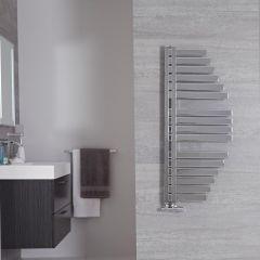 Lazio - Sèche-serviettes Design Chromé - 110cm x 48.3cm