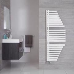 Lazio - Sèche-serviettes Design Blanc Minéral - 146cm x 54.7cm