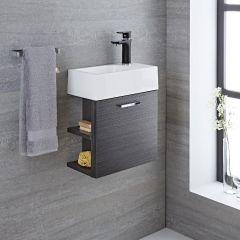 Meuble-lavabo Langley Gris 40x22x46cm