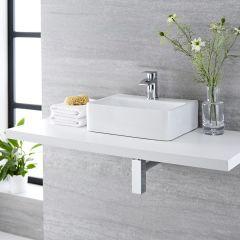 Vasque suspendue 40 x 29.5cm Exton & Mitigeur Razor