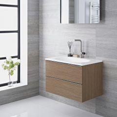 Meuble-lavabo 75x48x70cm Randwick Chêne