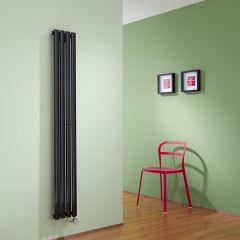 Radiateur Design Électrique Vertical Noir Vitality 160cm x 23,6cm x 5,6cm
