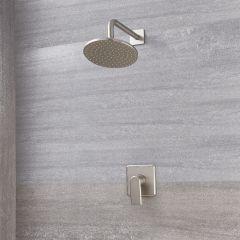 Mitigeur Mécanique & Pommeau Ø 20cm - Aldwick Nickel Brossé