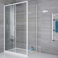 Paroi de douche latérale fixe 76cm Lux Blanc