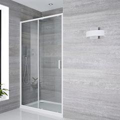 Porte de douche Coulissante 160x195cm Lux Blanc