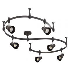 Biard Spot LED Pack de 6 & Rail Flexible 3m Panza Noir