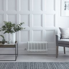 Radiateur Électrique Horizontal Style Fonte Blanc Windsor 30cm x 61cm x 10cm - Triple rang