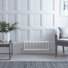 Radiateur Électrique Horizontal Style Fonte Blanc Windsor 30cm x 79cm x 10cm - Triple rang