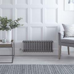 Radiateur Électrique Horizontal Style Fonte Acier Brut Windsor 30cm x 79cm x 10cm - Triple rang