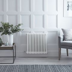 Radiateur Électrique Horizontal Style Fonte Blanc Windsor 60cm x 61cm x 10cm - Triple rang