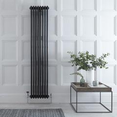 Radiateur Vertical Style Fonte Noir Windsor 180cm x 38,3cm x 10cm 1558 Watts