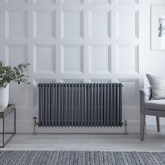 Radiateur Vertical Style Fonte Anthracite Windsor 60cm x 119.3cm x 10cm 1900 Watts