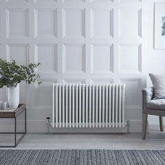 Radiateur Horizontal Style Fonte Blanc Windsor 60cm x 99cm x 13,3cm 2088 Watts