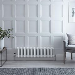 Radiateur Horizontal Style Fonte Blanc Windsor 30cm x 119.3cm x 10cm 1051 Watts