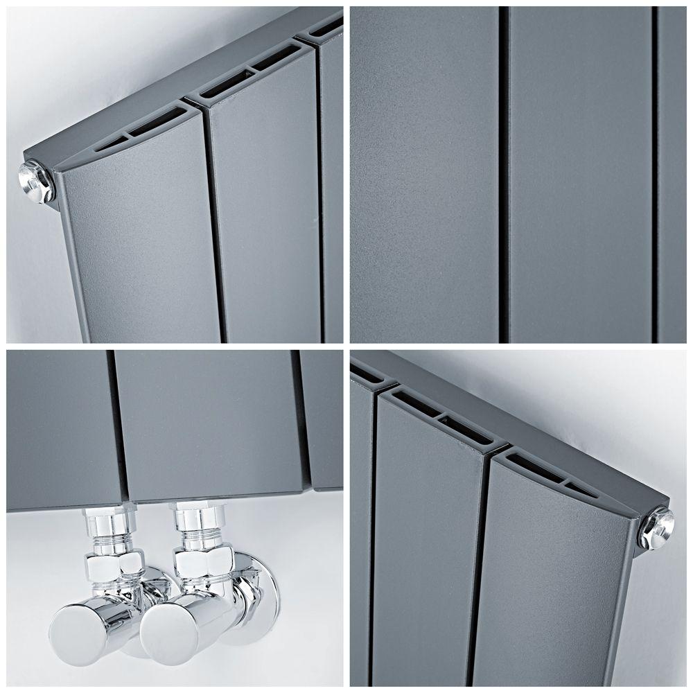 160 x 47cm Hudson Reed Aurora Radiateur Design Vertical Aluminium Blanc