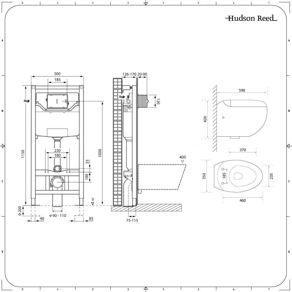 Wc Suspendu 4 Pieds pack wc suspendu langtree - bâti-support 115x50x18cm & plaque de  déclenchement - choix parmi 4 modèles