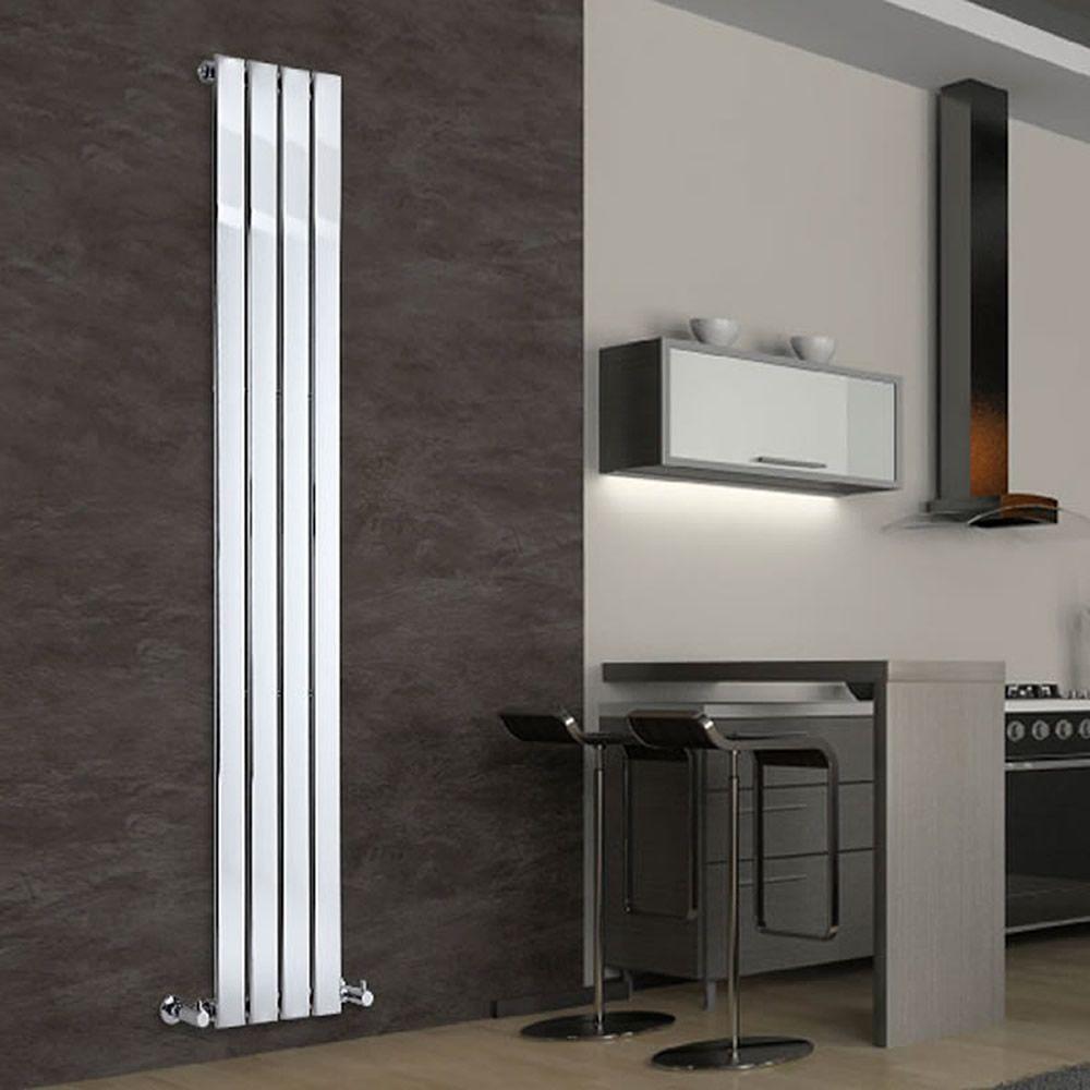 radiateur design vertical chrom delta 180cm x 30cm x 5cm 445 watts. Black Bedroom Furniture Sets. Home Design Ideas